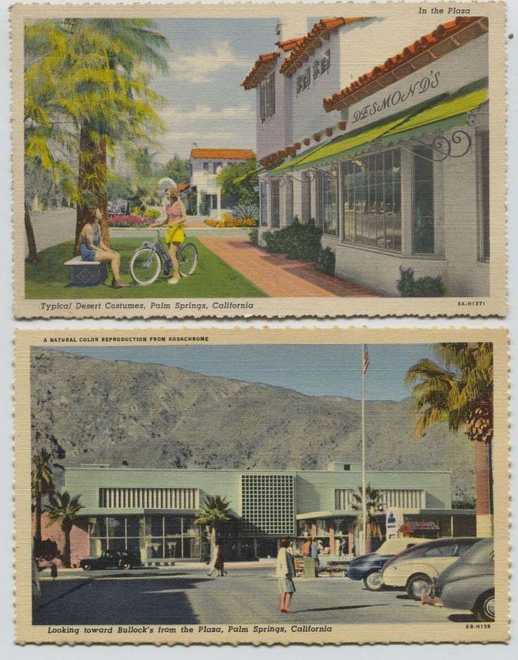 California Map Rancho Mirage%0A   Linen Bullock u    s  u     Desmonds Palm Springs California Postcards Willard