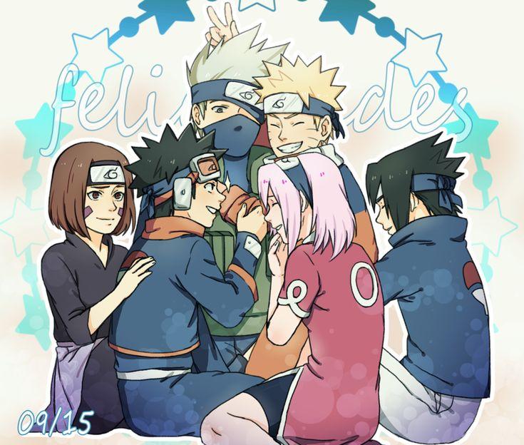 Kakashi, Rin, Obito, Sakura, Naruto And Sasuke By DaiKai