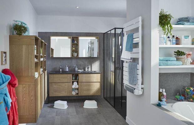 53 best Deco SDB images on Pinterest Bathroom, Bathrooms and - customiser un meuble de salle de bain