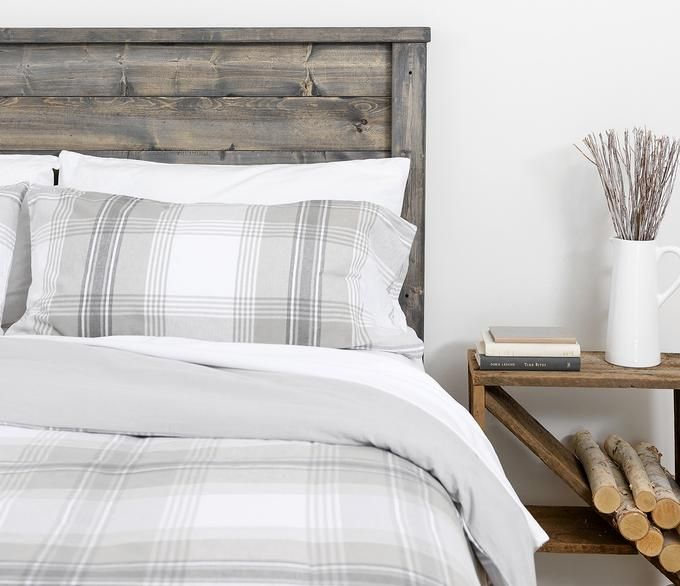 Flannel Duvet Cover in Plaid