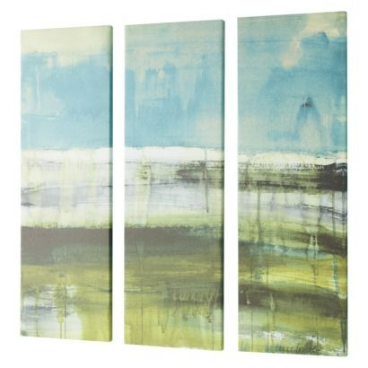 These are the 3-Pack Panel Framed Canvas Art groupings that I was talking about.  Try to find navy blue (for the room upstairs) and more ocean colors for the kitchen.