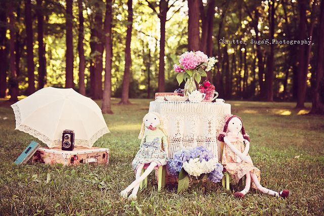 Vintage Tea Party Set Up by Shutter Sugar Photography