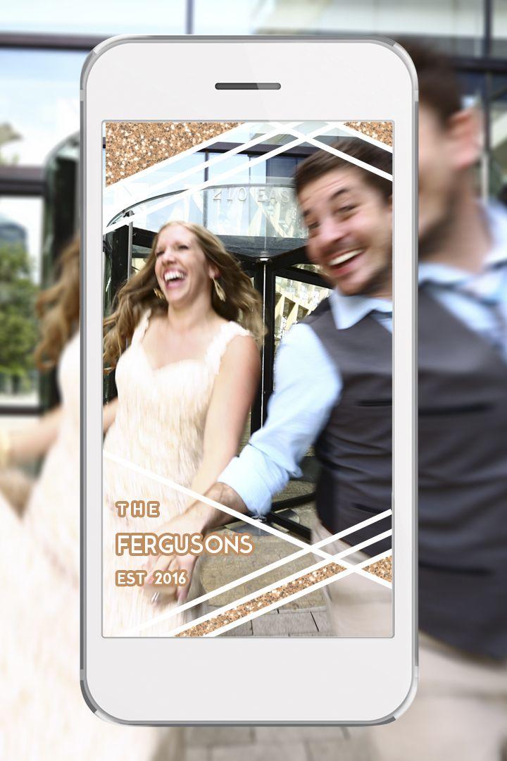 Custom wedding Snapchat Geofilter, PC: Carly Love Amos Photography  http://shrsl.com/?esy8 {copy & paste link}