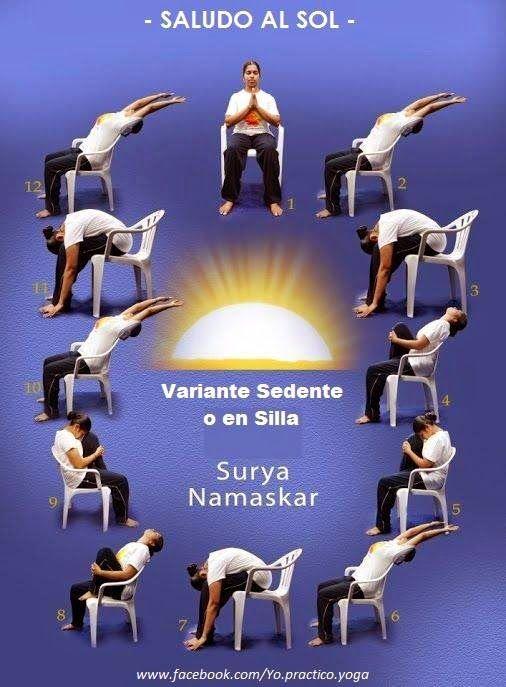 Surya Namaskar en silla / variante