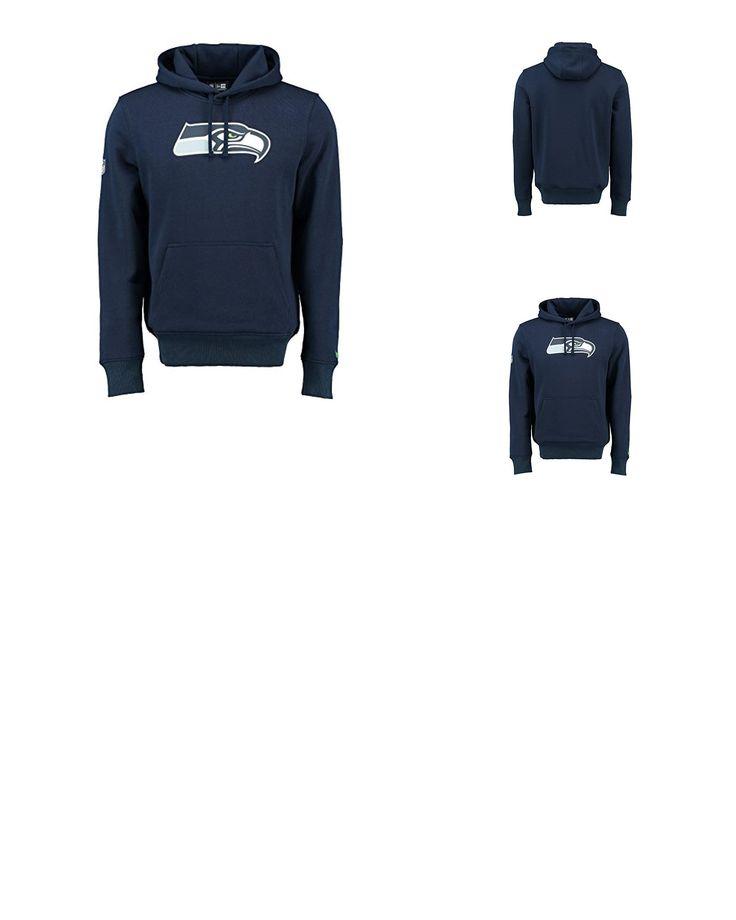 0888715779615   #New #Era #Seattle #Seahawks #Logo #Hoodie #NFL #Sweatshirt #Navy #(3XL)