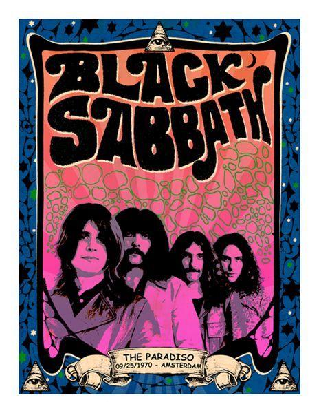 black sabbath Black Sabbath The Paradiso Amsterdam vintage #concert poster - http://sound.saar.city/?p=20177
