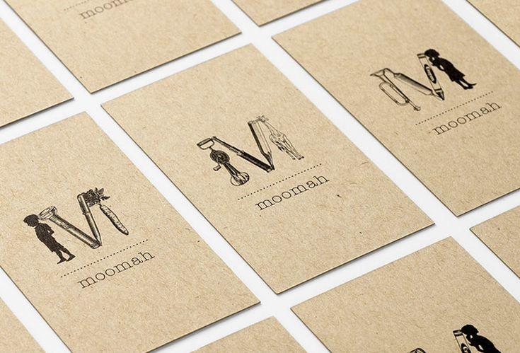 Moomah - Business Card Design Inspiration | Card Nerd