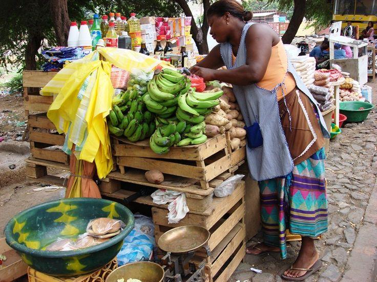 Get bananas here. Cape Verde, Sotavento, Praia