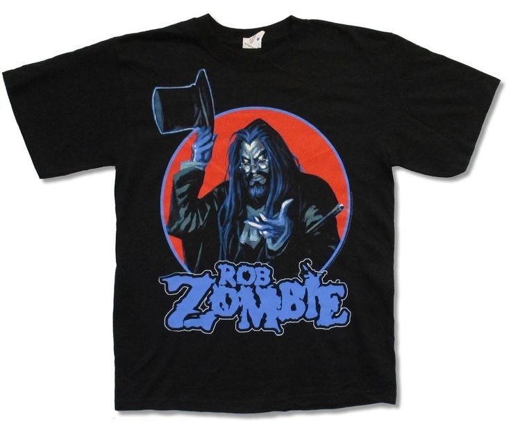 "Rob Zombie ""Magician"" Black T Shirt New Official Music White Adult 