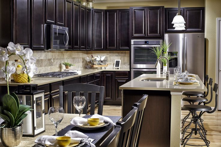 Gourmet Meals Made Easy In The Beautiful Kitchen At Water Valley Cascade.  #MeritageHomes #