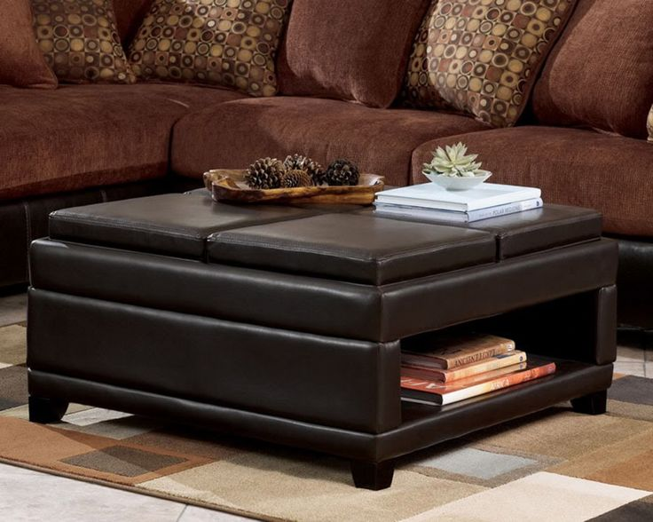 the 25+ best leather ottoman coffee table ideas on pinterest