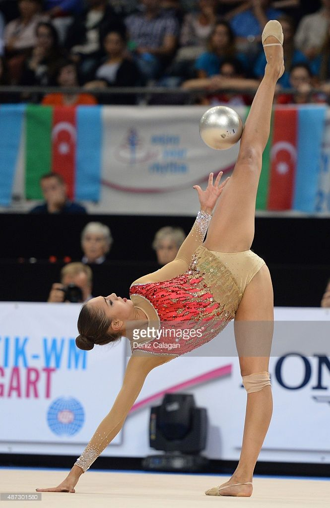 Margarita Mamun of Russia competes during the 34th Rhythmic Gymnastics World Championships on September 8, 2015 in Stuttgart, Germany.