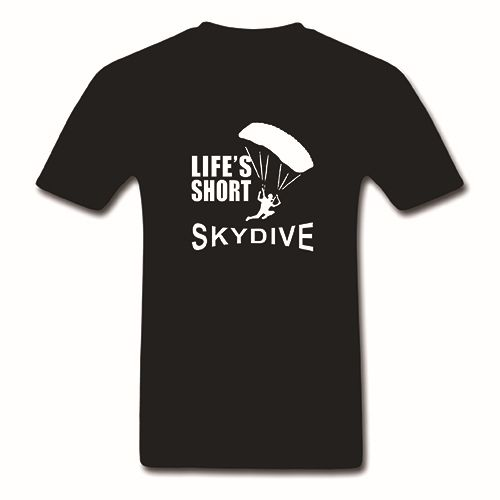 >> Click to Buy << 2017 Hot Sale Fashion LIFES SHORT SKYDIVE skydiving parachute skydiver T Shirt Men's Top Tee 100% Cotton O-Neck Adults Short  #Affiliate