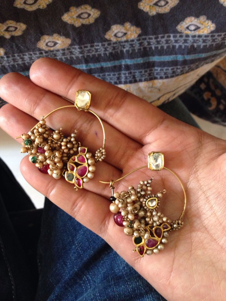 Antique Nath Earrings Umrao Jewels Classic Indian