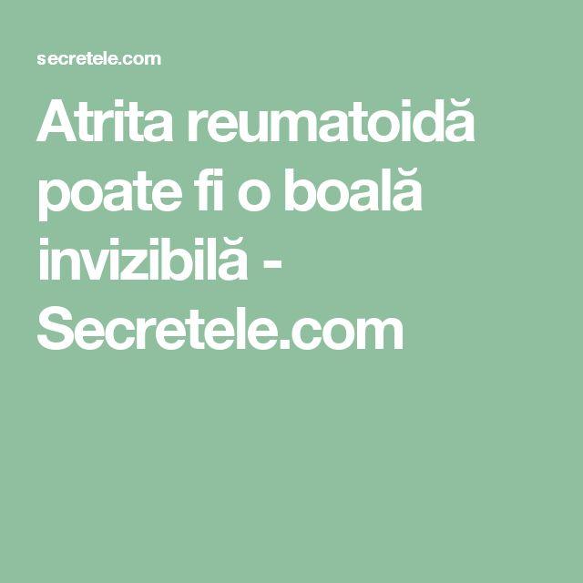 Atrita reumatoidă poate fi o boală invizibilă - Secretele.com