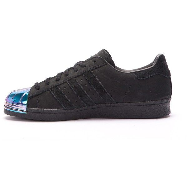 """adidas Superstar 80s W """"Metal Toe"""" (Black Multi) ($145) ❤ liked on Polyvore featuring shoes, pumps, wide black pumps, wide pumps, 1980s shoes, black pumps and adidas footwear"""