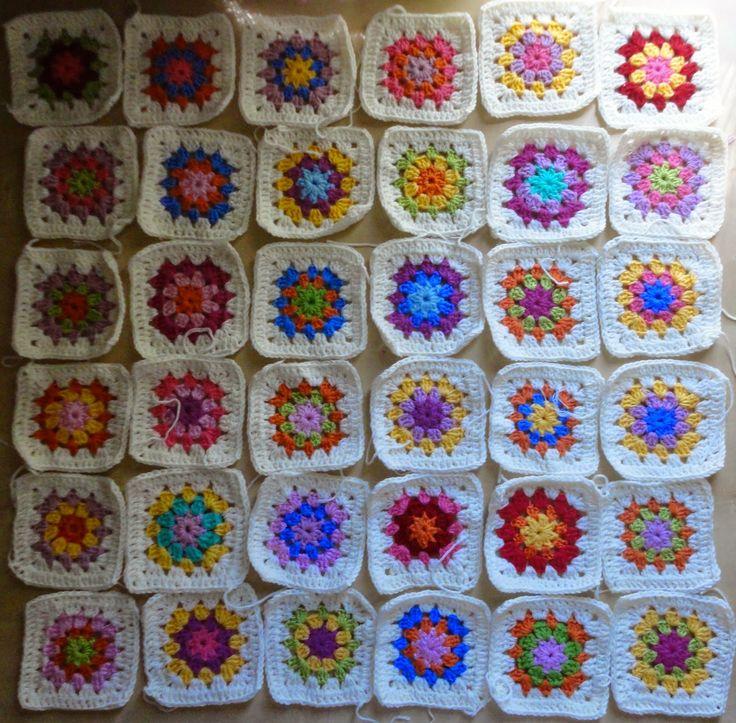 Doña Tijeras: Manta de cuadros de la abuela / Granny Square Blanket