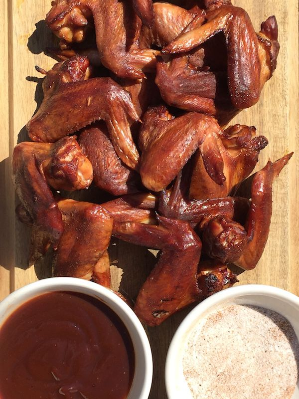 Smoked Chicken Wings - A great recipe for hot smoked chicken wings with crisp skin, sweet smoke and fantastic flavor.  Excellent & easy! - theoptimalistkitchen.com