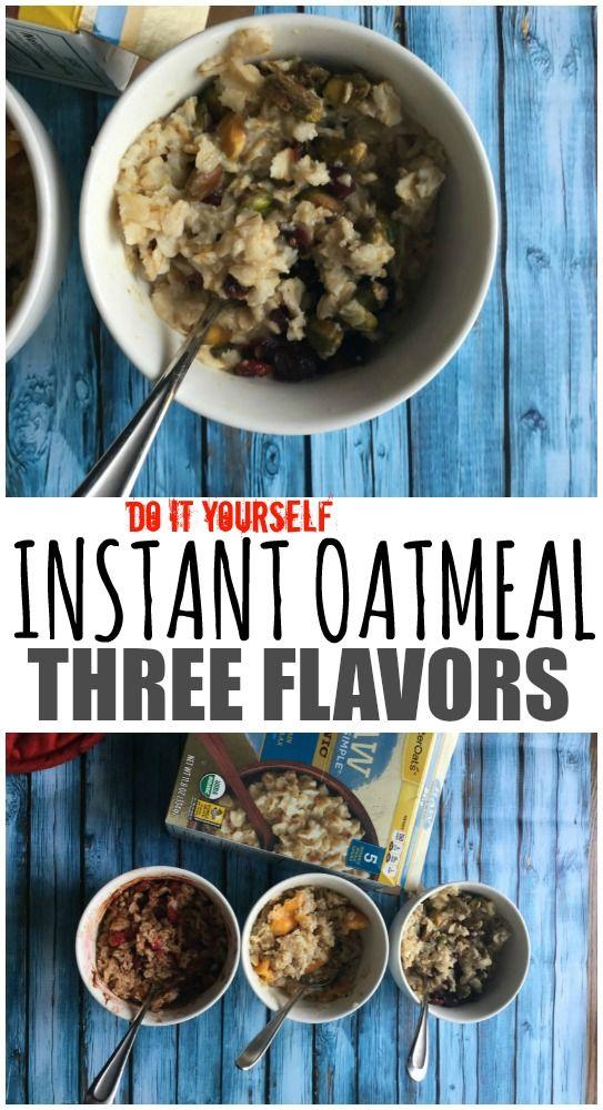 DIY Healthier Instant Oatmeal