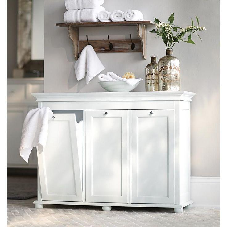 Home Decorators Collection Hampton Bay White Laundry Hamper-2601330410 - The Home Depot