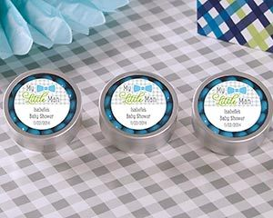 My Little Man Baby Shower Favor - Personalized Candy Tin by Kate Aspen