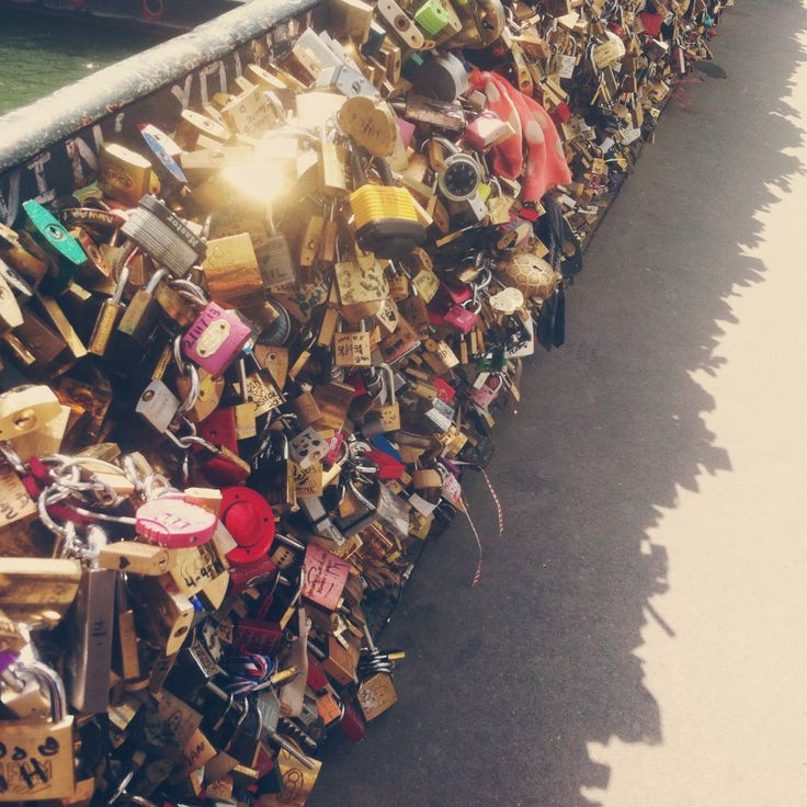 Love Lock Bridge, Paris, France.