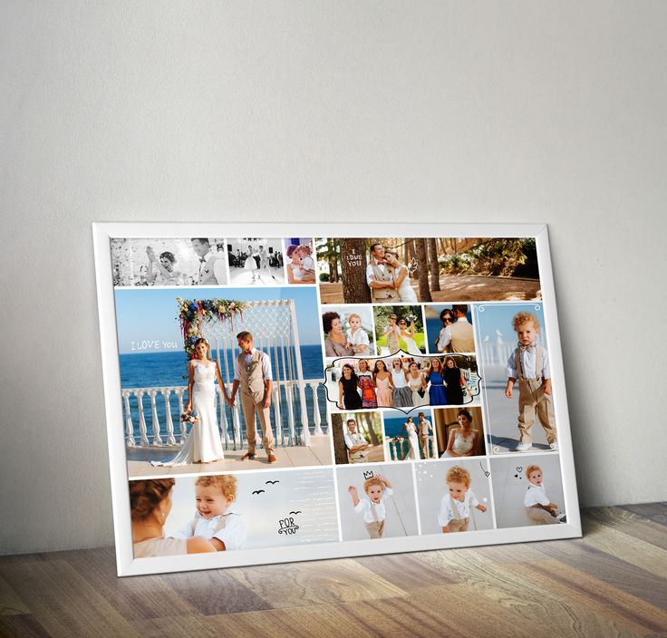 Фотоколлаж из свадебных фото