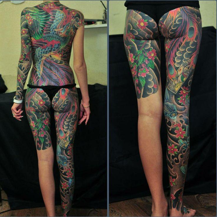 Japanese full body tattoo female