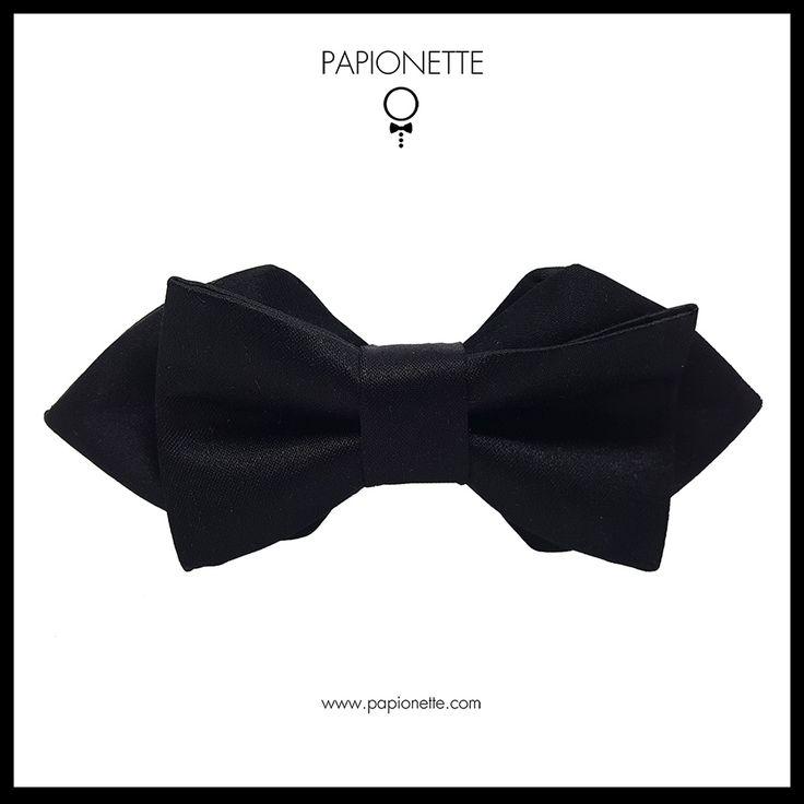 Papion negru elegant - Papionette