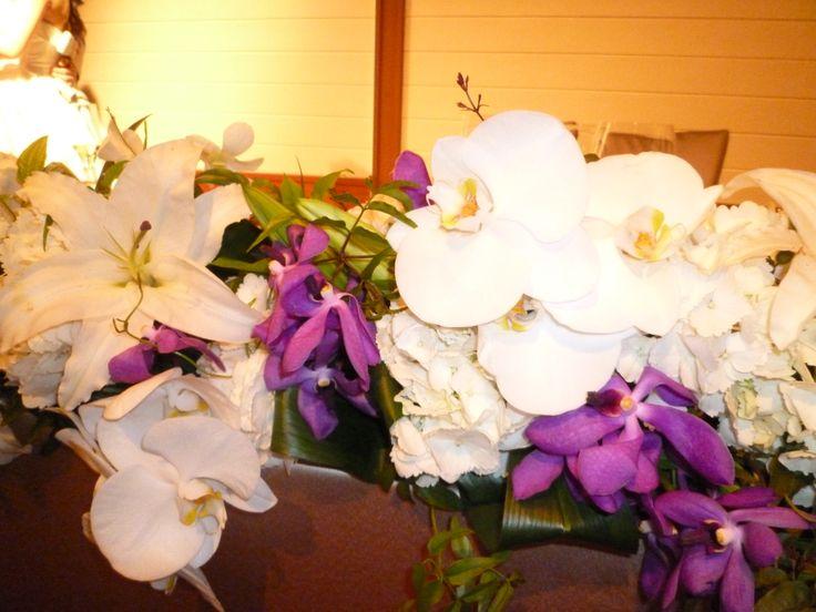 my friends wedding flower decollation