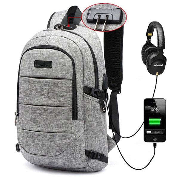 17 Inch Oxford Laptop Bag With <b>USB Charging</b> Port Casual Travel ...