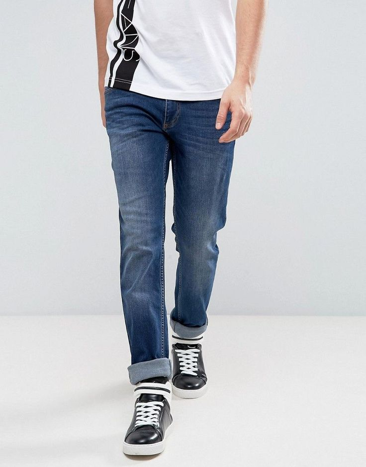 Versace Jeans With Logo In Slim Fit - Blue