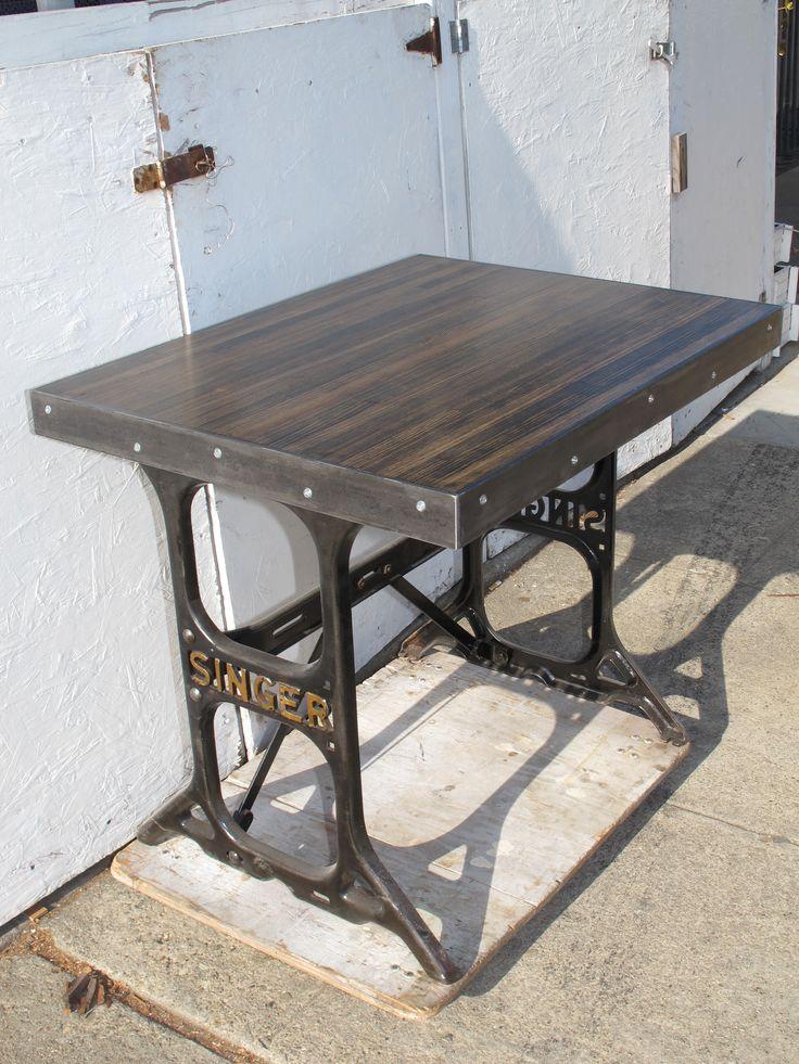 Sewing Machine Table Repurposed Desks
