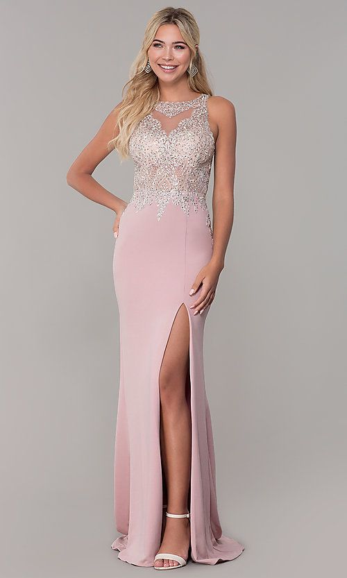 6dfe8cdf196f Dave and Johnny Long Rose Pink Prom Dress in 2019 | prom ...