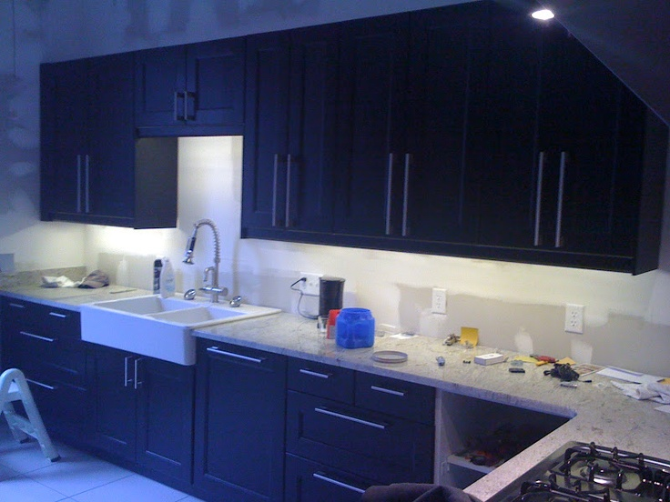 We used the same lights as above but ordered directly from inspired led under cabinet under cabinet lightingkitchen