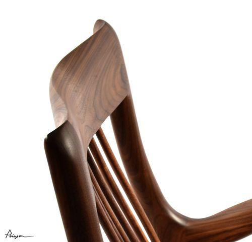 Dossier sculpté chaise LOIC / Sculpted backrest chair LOIC