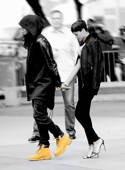 chris brown et rihanna timberland boots people and