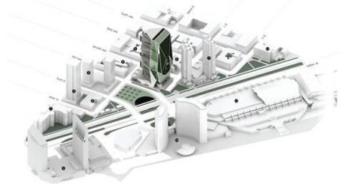 La vertical farm: abitazioni e campi coltivati convivono.   HYDROINVENT