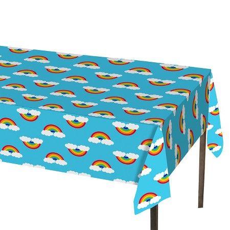 Rainbow Print Blue Table Cover  - Spritz™ : Target