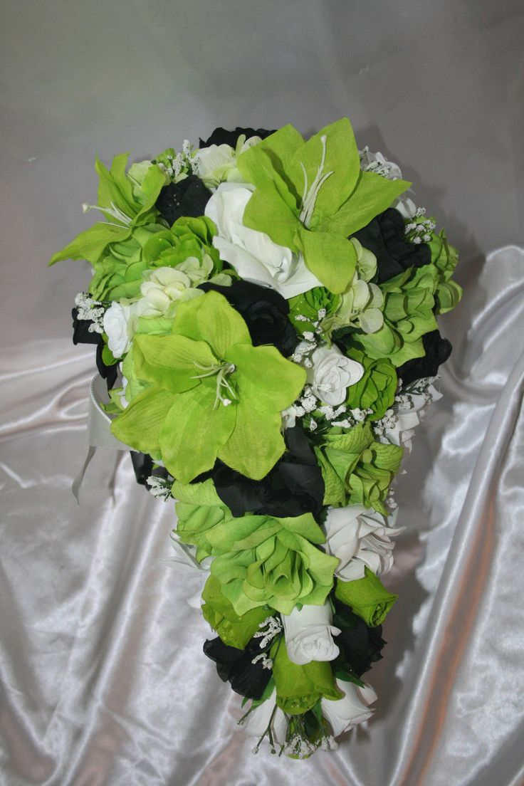 67 best lime green and black wedding ideas images on pinterest lime green silver and black wedding bridal bouquet package lime green black silk wedding flower mightylinksfo Images