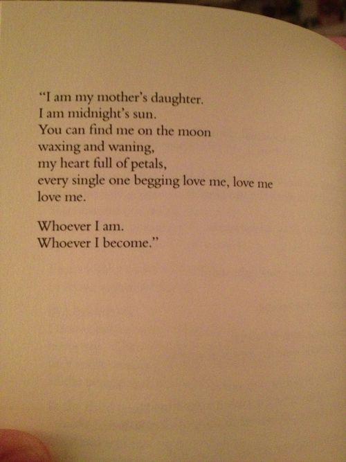 --love me, love me, love me/ whoever I am, whoever I become-- Andrea Gibson