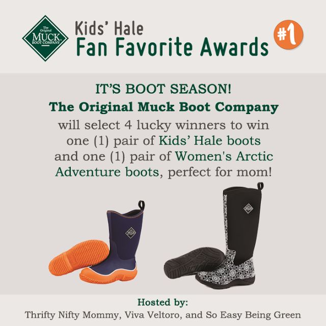 BIG Giveaway from the Original Muck Boot Company!  4 Winners!  ARV over $200!  These boots are perfect for upcoming chilly weather!