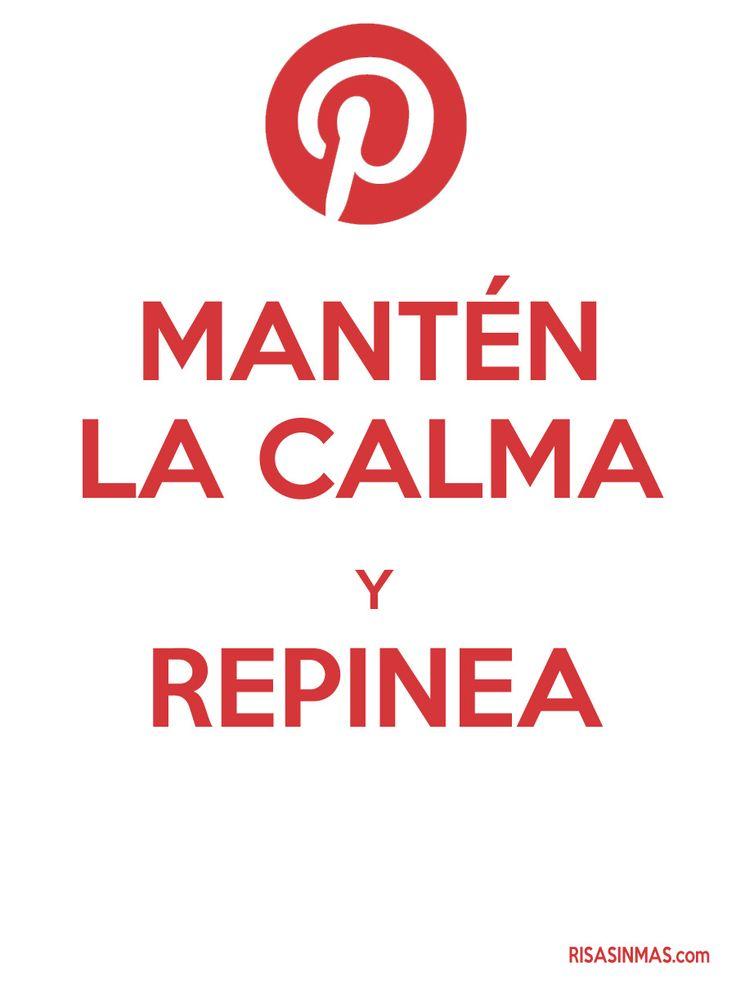 Mantén la calma y repinea. ❥Teresa Restegui http://www.pinterest.com/teretegui/❥
