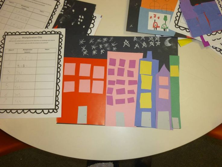 Multiplication City Art...something to think about for next year!
