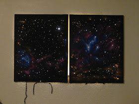 DIY: Light Up Galaxy Painting