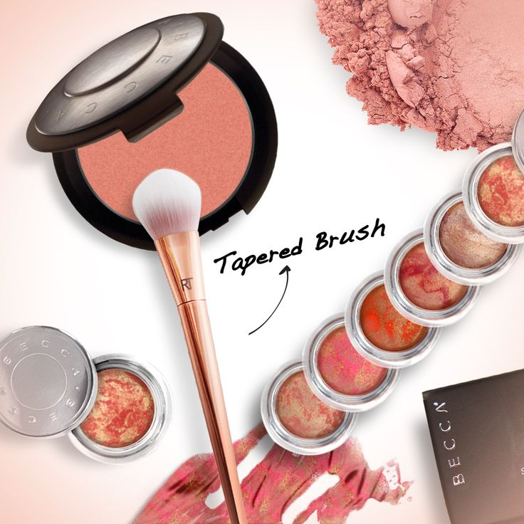 CHEEKY CHEEKS!! Tip BECCA Mineral Blush with Real Techniques Tapered Brush and sculpt across cheeks for a seamless finish. Apply with BECCA Beach Tint Shimmer Souffle if prefer cream to powder finish. #makeup #mua #makeup_blush #behindmybeauty