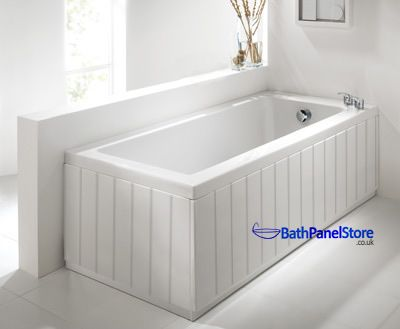 Top Quality Bathroom Tongue and Groove Style 18mm MDF High Gloss White 2 Piece Bath Panels These are Top Quailty British Made Bath panels in a High