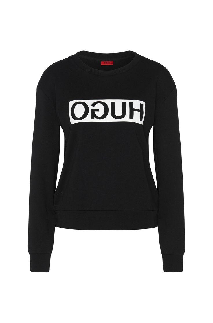 Sweatshirt aus Baumwolle mit HUGO Reversed Logo: 'Nicci'
