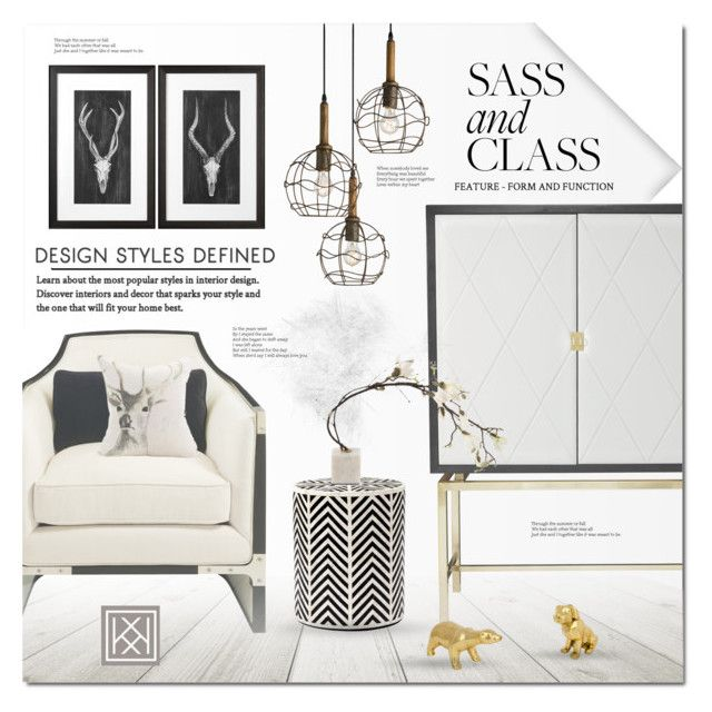 Sass & Class by justlovedesign on Polyvore featuring interior, interiors, interior design, home, home decor, interior decorating, Flos and modern