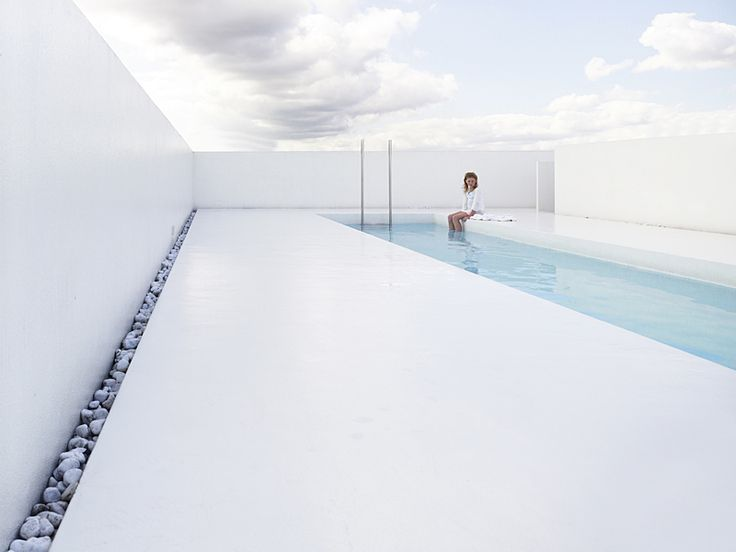 ":: TRAVEL :: I want to go here! ""All-white roof top pool on top of a renovated building by Belgian architects DMVA. Wouldn't mind having one."" #travel"